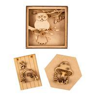 Olifantjie Owl Shadow Box and Woodland Fairy 3 x MDF Kits-140479