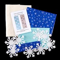 Cotton Cocktails Snowflakes Table Runner Kit with Pre-Cut Fusible-141003