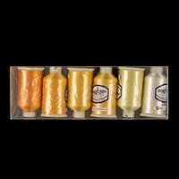 Marathon Threads Pack of 6 x 1000m Rayon Cops (Solids)-141361