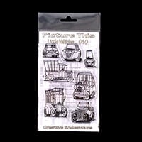 Picture This A6 Stamp Set - Little Vehicles - 7 Stamps-141473