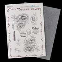 Chocolate Baroque Floral Perfumery A5 Stamp Sheet-142729