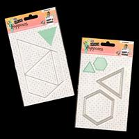 StudioLight 2 x Create Happiness Die Sets - Shapes and Triangular-143830