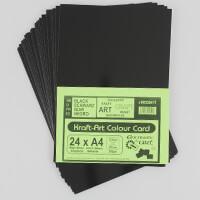 Encaustic Art Black 24 x A4 Shiny Card-144295