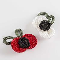 Kelanash Poppy Flower Brooch 3 Strand Weave - Makes 2-149727