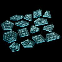 Crafty UK 5/7 Solid 15 Piece Template Set - Hexagon, Triangles, D-153241