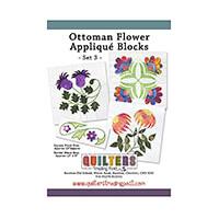 Quilter's Trading Post Ottoman Flower Applique Blocks - Set 3 Pat-154019
