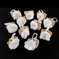 Craft Buddy Set of 12 Handmade Floral Gift Pouches-154028