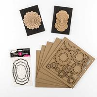 Want2Scrap 4 x Chipboard Packs - Album, Rhinestones & Nesting Chi-158017