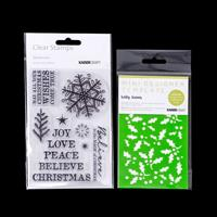 Kaisercraft Wonderland Stamp Set & Holly Leaves Mini Template-158845