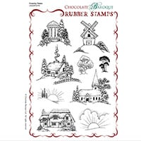 Chocolate Baroque Country Views A5 Stamp Sheet - Includes 9 Image-159569