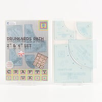 "Crafty UK Drunkards Path 2"" & 4"" Set-159856"
