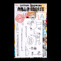 AALL & Create Stamp Set - Quirky Birds -11 Stamps-160913