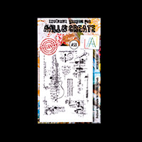 AALL & Create Stamp Set - Musical Gears - 8 Stamps-162330