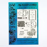 Craftascope A5 Plus Media Stamp Set - ATC Antics - 34 Stamps-162644