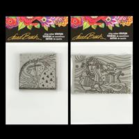 Stampendous 2 x Cling Stamps - Laurel Burch Horses and Mermaid Fl-163638