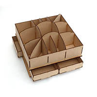 Candy Box Crafts MDF Rotary Craft Storage Unit Kit-164654