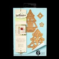 Spellbinders Seasonal Die Set - Art Deco Trees - 4 Dies Total-164861