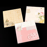 Craft Buddy Set of 3 8x8  Designer Paper Pads   90 Sheets Total  -165147