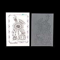 Chocolate Baroque Captivating Cacti A6 Stamp Sheet-165520