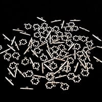 Dizzy Di 50 Silver Plated Flower Toggle Clasps-165961