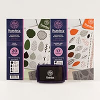 Threaders 2 x A5 Rubber Stamp Sets with Large Black Ink Pad-167015