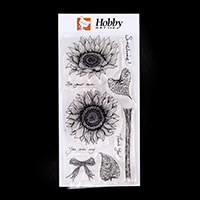 Hobby Art Janie's Collection - Sunshine & Sunflowers DL Clear Sta-168603