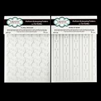 Creative Expressions 2 x PinPoint Embossing Folders - Floral Broc-169648