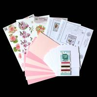 Add Some Sparkle Think Pink Paper Embroidery Kit - Makes 8 Cards-169744