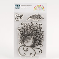 Kelly Cuts Paper A6 Stamp Set - Peacock-170112