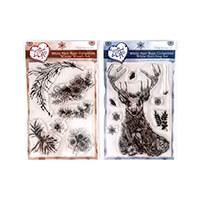 Samantha Braund Arts White Hart Deer Collection 2 x A6 Stamp Sets-171231