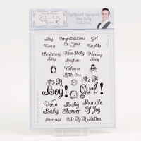 Sentimentally Yours A5 Clear Stamp Set Chalkboard Essentials - Ne-172004
