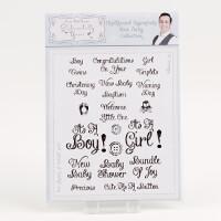 Sentimentally Yours A5 Clear Stamp Set Chalkboard Essentials - Ne-172004
