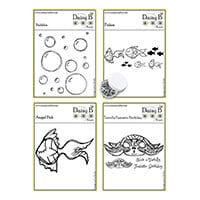 Nina Crafts Sea Turtle and Fishes Stamp Sets and Halo Scale Twink-172398