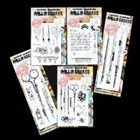 AALL & Create 5 x Stamp Sets - Light Bulb, Cypher, Brushes, Sciss-173540