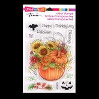 Stampendous Autumn Arrangement Cling Stamp Set - 11 Stamps Total-176539