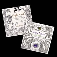 Wellwood Editions By Jessica Palmer 2 x Colouring Books - Tangle -179614