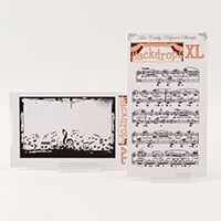 Bee Crafty Backdrops XL Stamps - Fur Elise & Music Border Backgro-180931