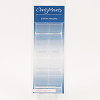 Claritystamp Set of 8 Mini Stamp Mounts-182867