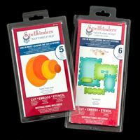 Spellbinders Nestabilities 2 x Die Sets - Tile Works & Classic Ov-183758