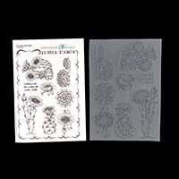 Chocolate Baroque Scrumptious Succulents A5 8 Stamp Sheet-183773