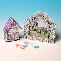 Nutmeg Wedding Belles Fridge Magnet and Wedding Card Cross Stitch-184317