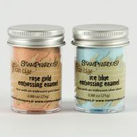 Stampendous Pack of 2 25g Embossing Enamels - Rose Gold & Ice Blu-186107
