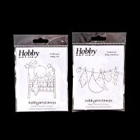 Hobby Art Foam Mounted Baby Stamp Set - 2 Stamps-186361