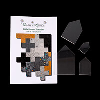 Daisy & Grace Little Houses Templates - Set of 4 Acrylic Template-187478