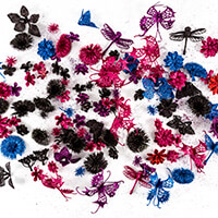 Dawn Bibby 144 Piece Fantasy Glitter Embellishment Kit - Vibrant-189103