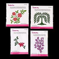 Crafts Too 4 Cut and Emboss Stencils - Flowers, Butterfly, Willow-189872