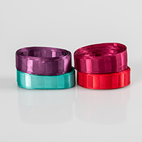 Eleganza Satin Vogue Ribbon - 5M x 20mm of Claret, Plum, Teal & R-190962