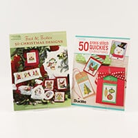 Christmas Cross Stitch Book Bundle - 50 Cross Stitch Quickies Chr-191224