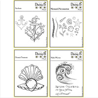 Nina Crafts Underwater Stamp Set - Waves, Pearl, Anchors and Acce-191468