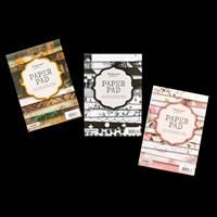 StudioLight Set of 3 A5 Paper Pads - Rustic, Monochrome  and Chin-191861
